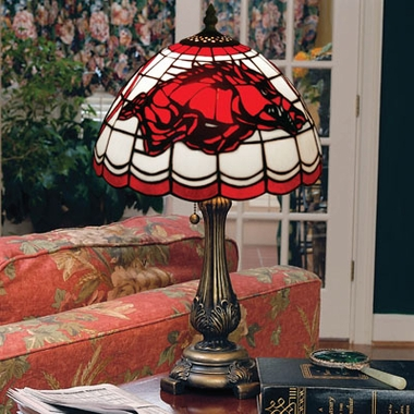 Arkansas Stained Glass Table Lamp