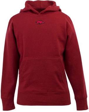Arkansas YOUTH Boys Signature Hooded Sweatshirt (Color: Red)