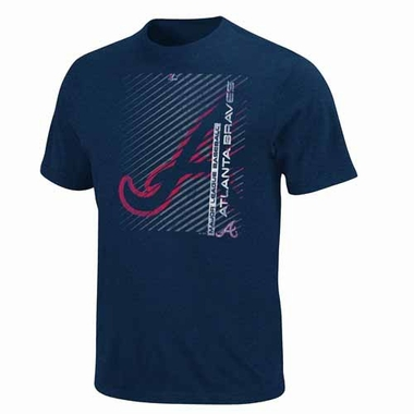 Atlanta Braves Batting Champion Heathered T-Shirt - Navy
