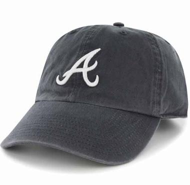 Atlanta Braves Clean Up Adjustable Hat - Navy