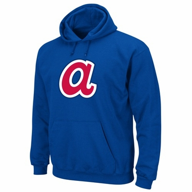Atlanta Braves Cooperstown Felt Tek Patch Hooded Sweatshirt