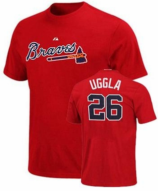 Atlanta Braves Dan Uggla Name and Number T-Shirt (Red)