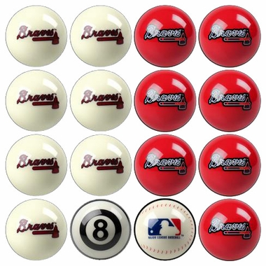 Atlanta Braves Home and Away Complete Billiard Ball Set