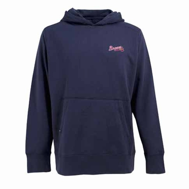 Atlanta Braves Mens Signature Hooded Sweatshirt (Color: Navy)