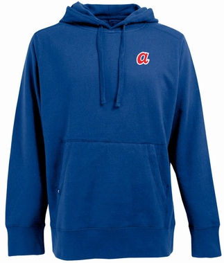 Atlanta Braves Mens Signature Hooded Sweatshirt (Cooperstown) (Color: Royal)