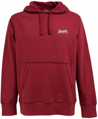 Atlanta Braves Mens Signature Hooded Sweatshirt (Color: Red)