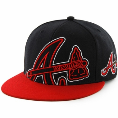 Atlanta Braves Two Tone Colossal Snap Back Hat