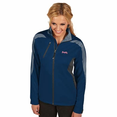 Atlanta Braves Womens Discover Jacket (Color: Navy)