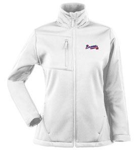Atlanta Braves Womens Traverse Jacket (Color: White) - Small
