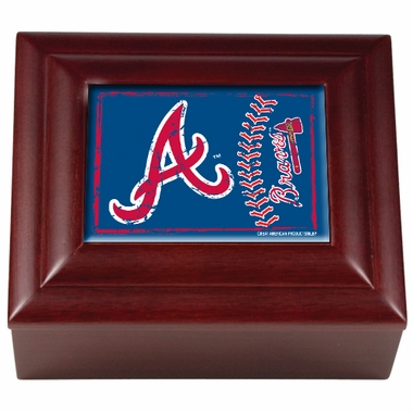 Atlanta Braves Wooden Keepsake Box
