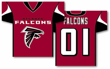 Atlanta Falcons 2 Sided Jersey Banner Flag (F)