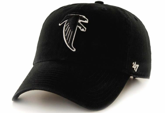 Atlanta Falcons 47 Brand Black Throwback Clean Up Adjustable Hat 129c4250e