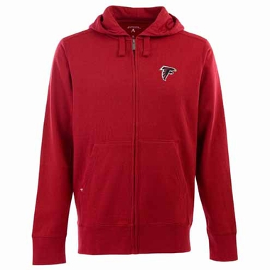 Atlanta Falcons Mens Signature Full Zip Hooded Sweatshirt (Color: Red)