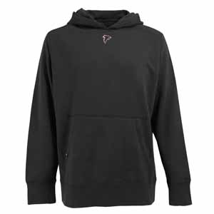Atlanta Falcons Mens Signature Hooded Sweatshirt (Color: Black) - Large
