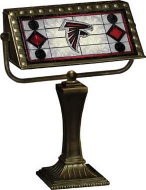 Atlanta Falcons Stained Glass Bankers Lamp