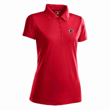 Atlanta Falcons Womens Pique Xtra Lite Polo Shirt (Color: Red)