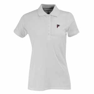 Atlanta Falcons Womens Spark Polo (Color: White) - Small