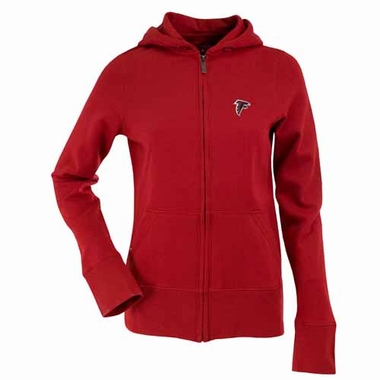 Atlanta Falcons Womens Zip Front Hoody Sweatshirt (Color: Red)