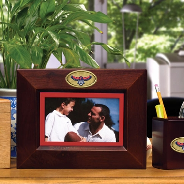 Atlanta Hawks BROWN Landscape Picture Frame