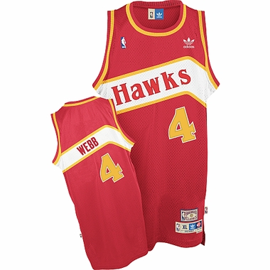 Atlanta Hawks Spud Webb Team Color Throwback Replica Premiere Jersey