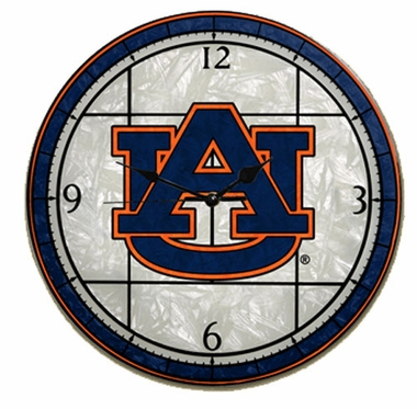 Auburn Art Glass Clock