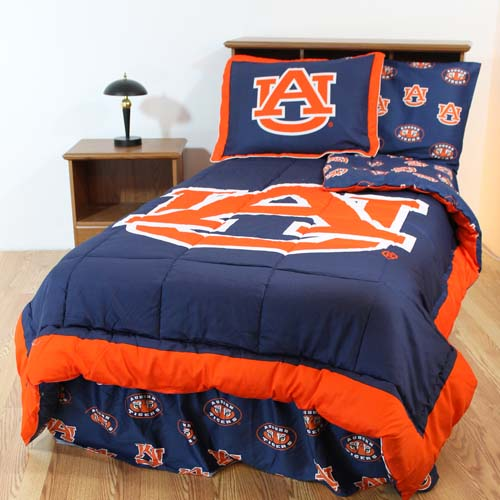 Auburn Bed In A Bag Twin With Team Colored Sheets