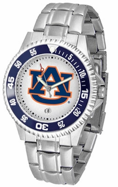 Auburn Competitor Men's Steel Band Watch
