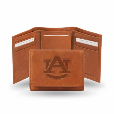 Auburn Embossed Leather Trifold Wallet