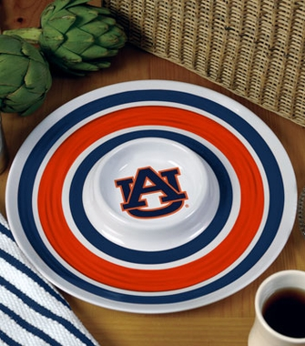 Auburn Plastic Chip and Dip Plate