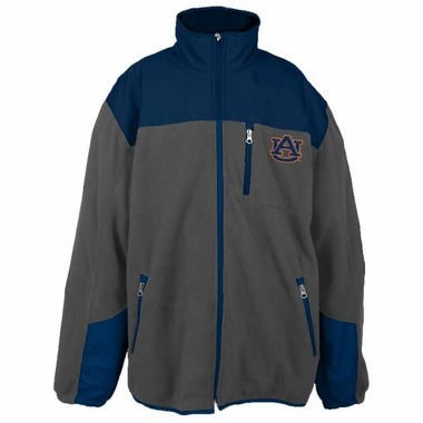 Auburn Poly Dobby Full Zip Polar Fleece Jacket (Charcoal)