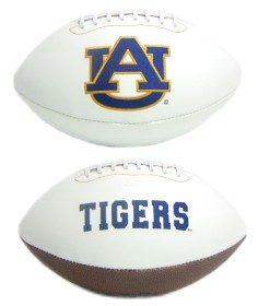 Auburn Tigers Full Size Embroidered Signature Series Football