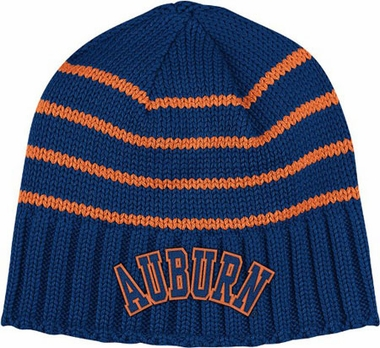 Auburn Vault Striped Cuffless Knit Hat