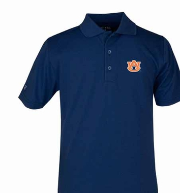Auburn YOUTH Unisex Pique Polo Shirt (Color: Navy)