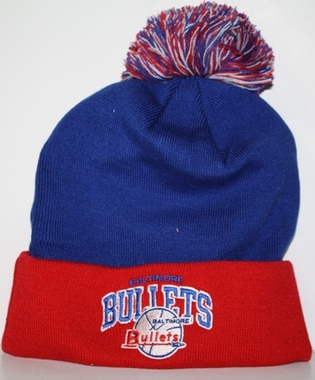 Baltimore Bullets Arched Logo Vintage Cuffed Pom Hat