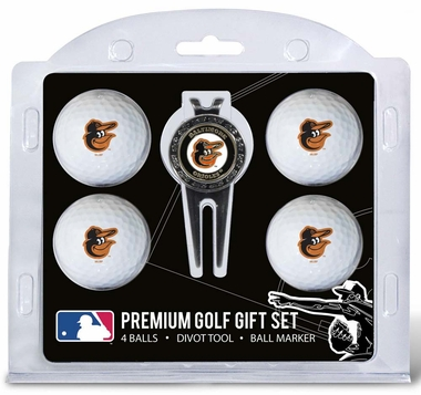 Baltimore Orioles 4 Ball and Divot Tool Set