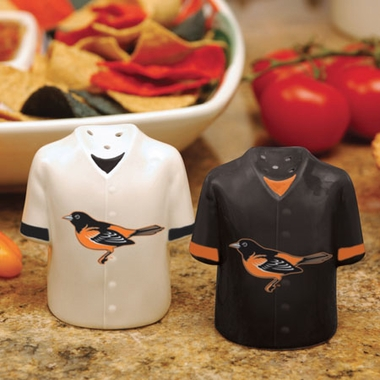 Baltimore Orioles Ceramic Jersey Salt and Pepper Shakers