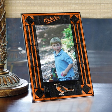 Baltimore Orioles Portrait Art Glass Picture Frame
