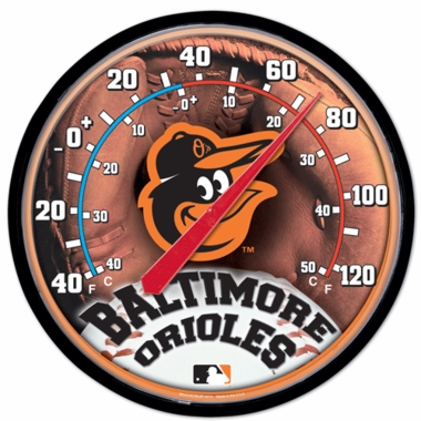 Baltimore Orioles Round Wall Thermometer