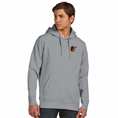 Baltimore Orioles Mens Signature Hooded Sweatshirt (Color: Silver)