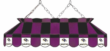 Baltimore Ravens 40 Inch Rectangular Stained Glass Billiard Light