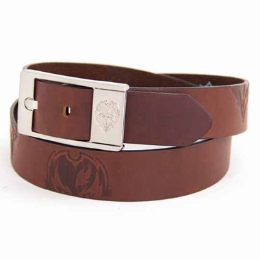 Baltimore Ravens Brown Leather Brandished Belt