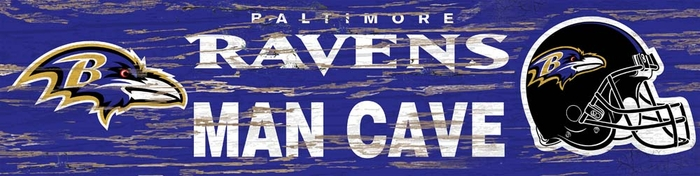 Man Cave Store Baltimore : Baltimore ravens distressed man cave sign small