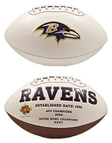 Baltimore Ravens Full Size Embroidered Signature Series Football