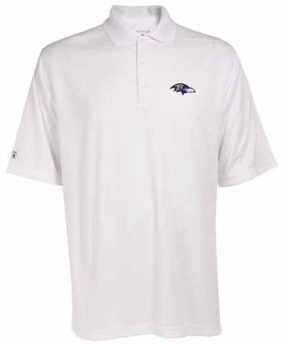 Baltimore Ravens Mens Exceed Polo (Color: White)