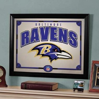 Baltimore Ravens Framed Mirror