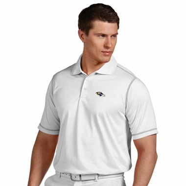Baltimore Ravens Mens Icon Polo (Color: White)