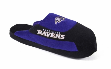 Baltimore Ravens Unisex Low Pro Slippers - Large