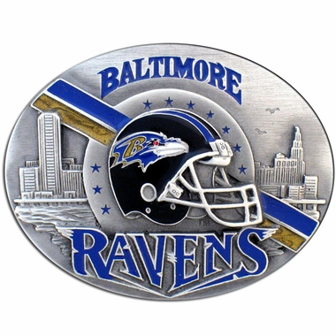 Baltimore Ravens Enameled Belt Buckle