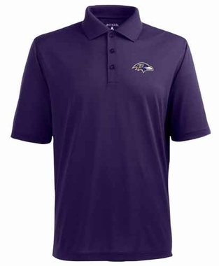 Baltimore Ravens Mens Pique Xtra Lite Polo Shirt (Color: Purple)