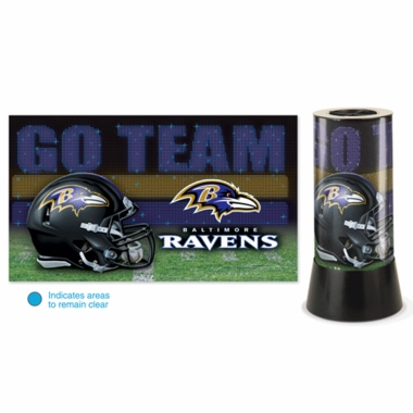 Baltimore Ravens Rotating Lamp